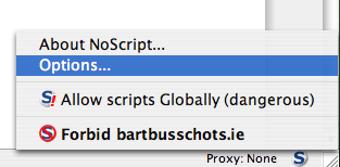 NoScript - Edit Settings Step 1