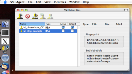 SSH Agent Screen Shot