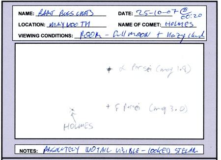 Comet 17/P Holmes - 25-10-2007 @ 00:20