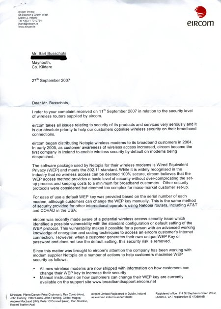 Eircom Reply - Page 1