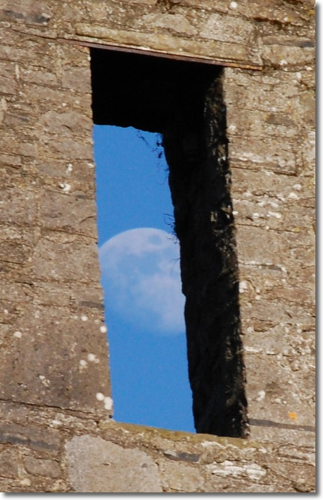 The Moon Through a Window (200mm cropped)
