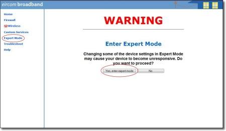 Set Router Password - Expert Mode