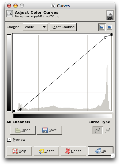 Partial B & W Example - Curves