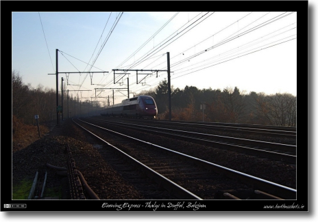 Evening Express - Thalys in Duffel, Belgium