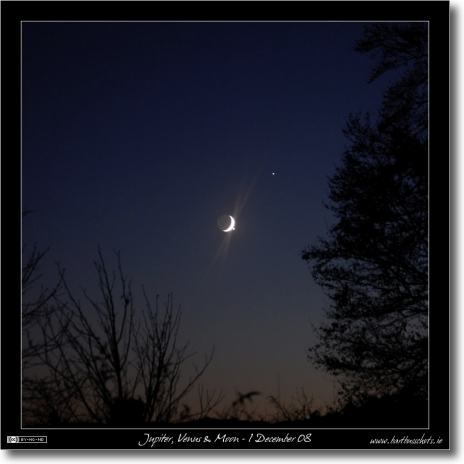 Jupiter, Venus & Moon Conjunction