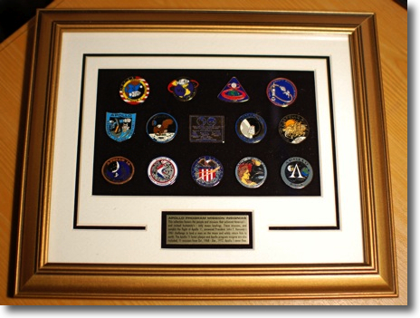 Apollo Mission Patches presented to me by IFAS