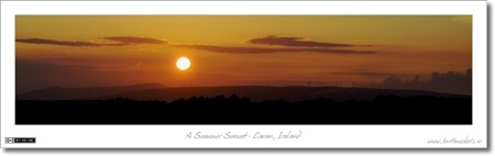 A Cavan Sunset - Silhouetted
