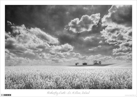 Big Summer Skies over Rathcoffey Castle (mmonochrome)