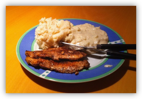 Pork Chops with Mash & Cauliflower