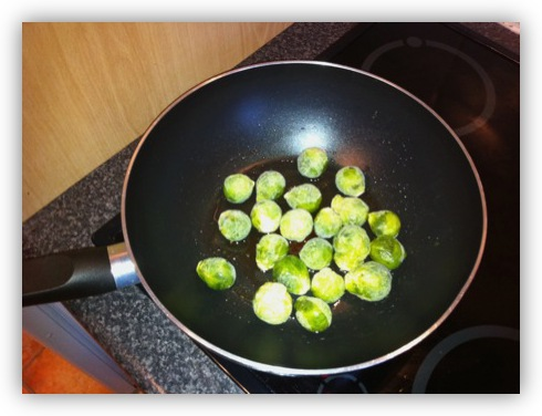 Fry the Sprouts in some Oil on a Medium Heat