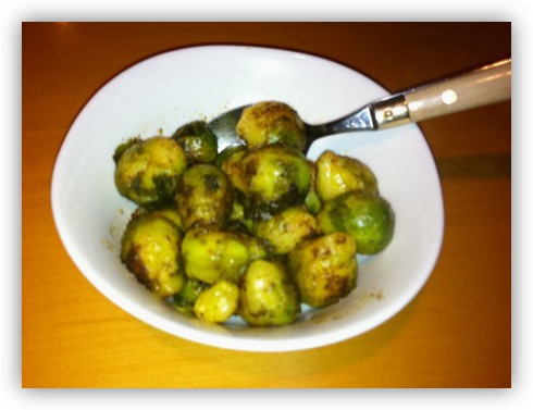 Brussels Sprouts with Butter & Nutmeg