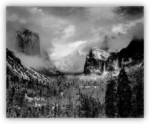 Ansel Adams - Yosemite Valley Clearing Winter Storm (1942)