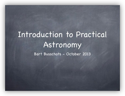 Instroduction to Practical Astronomy
